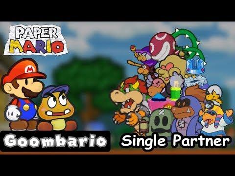 Paper Mario - All Bosses - Goombario Single Partner
