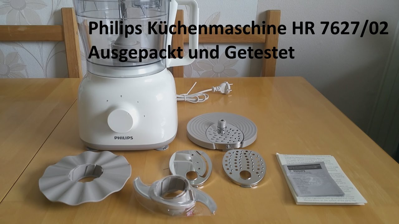 philips k chenmaschine hr 7627 02 ausgepackt und getestet youtube. Black Bedroom Furniture Sets. Home Design Ideas