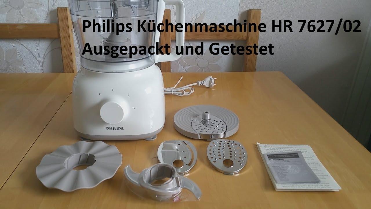 Philips Kuchenmaschine Hr 7627 02 Ausgepackt Und Getestet Youtube