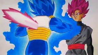 Vegeta VS Goku Black - Speed Drawing - Dragon Ball Super Capitulo 56