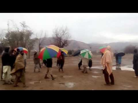 In Waziristan Village Tappi Young People Celebrate The Happy Weather.