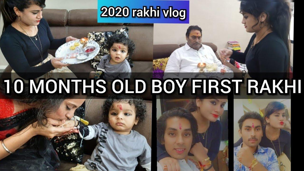RAKSHABANDHAN VLOG 10 MONTHS OLD BOY FIRST RAKHI  😍