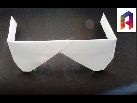 How to make easy Origami Glasses👓