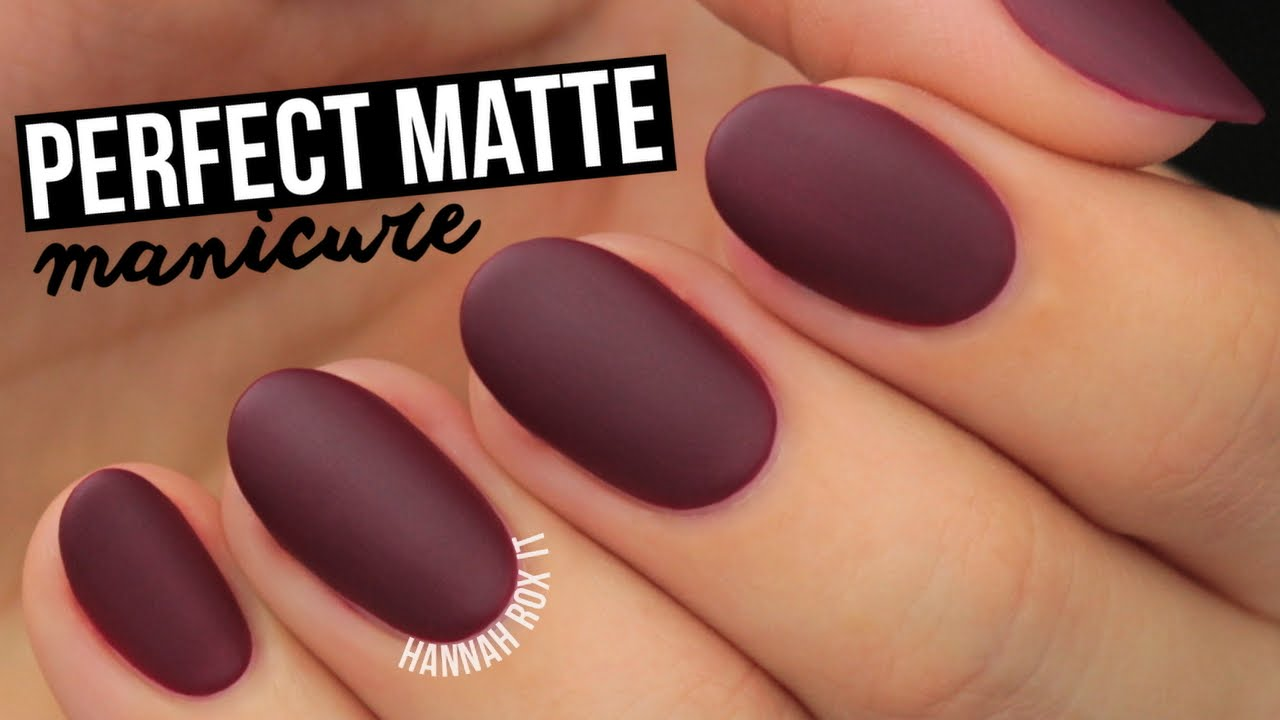 How To Get The Perfect Matte Mani