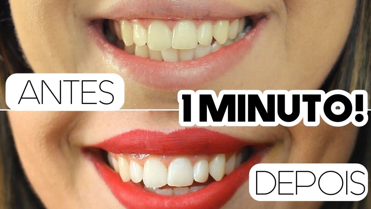 Dentes Brancos Em 1 Minuto Receita Caseira Youtube