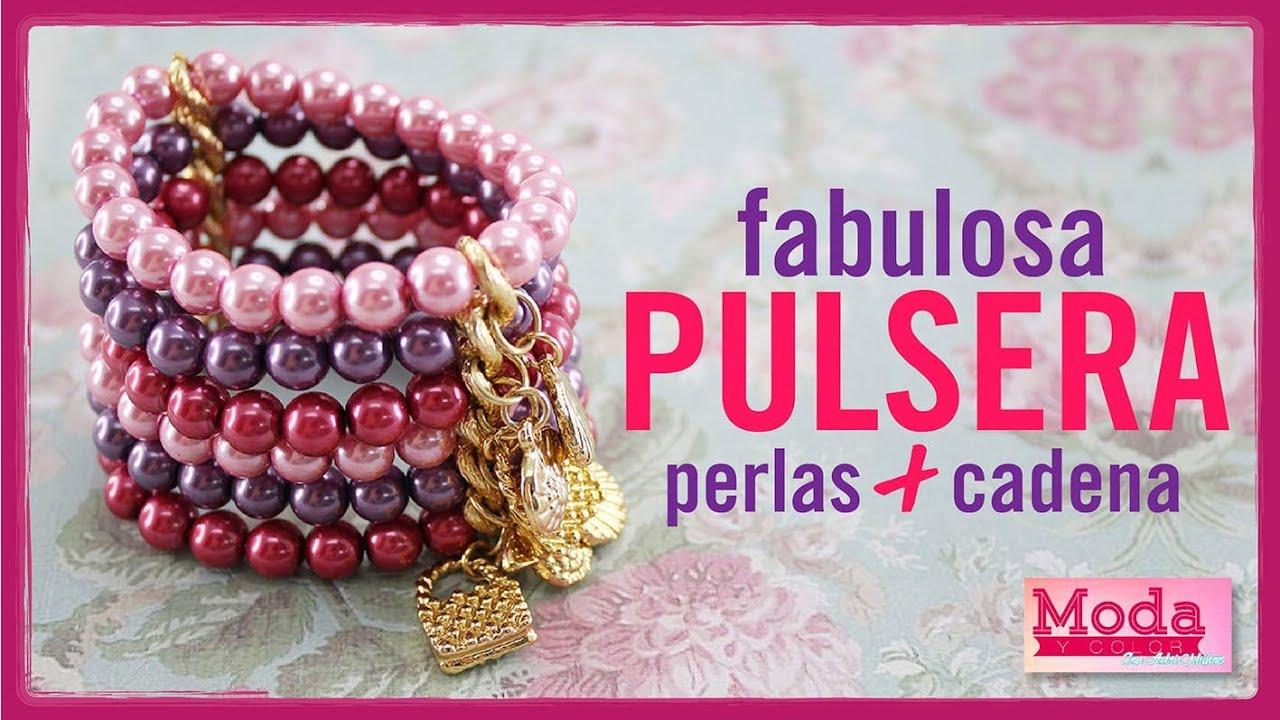 6cc4cc3128f2 How to make a colored pearl bracelet with Adriana Muñoz Kit 23189