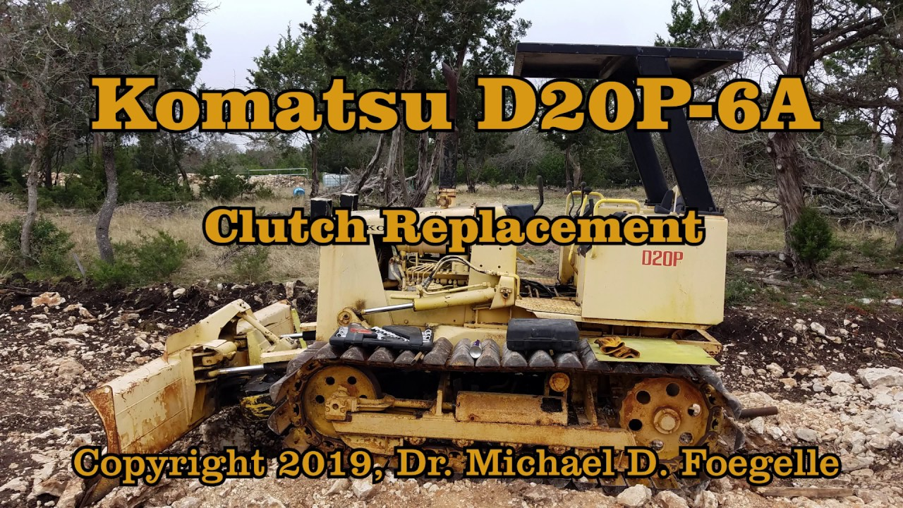 Komatsu D20P 6A Clutch Replacement