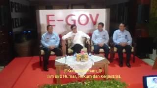 Press Conference Menkumham terkait tindakan Kemenkumham tdp Krisis Rutan Kelas IIB Pekanbaru