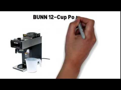 Business Coffee maker Bunn 12cup Pourover review - YouTube