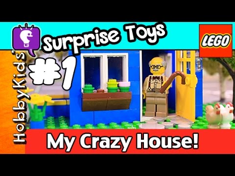 Lego Floyd #1 My CRAZY HOUSE! Simpsons Lego Minifig Surprise Bags by HobbyKidsTV HD