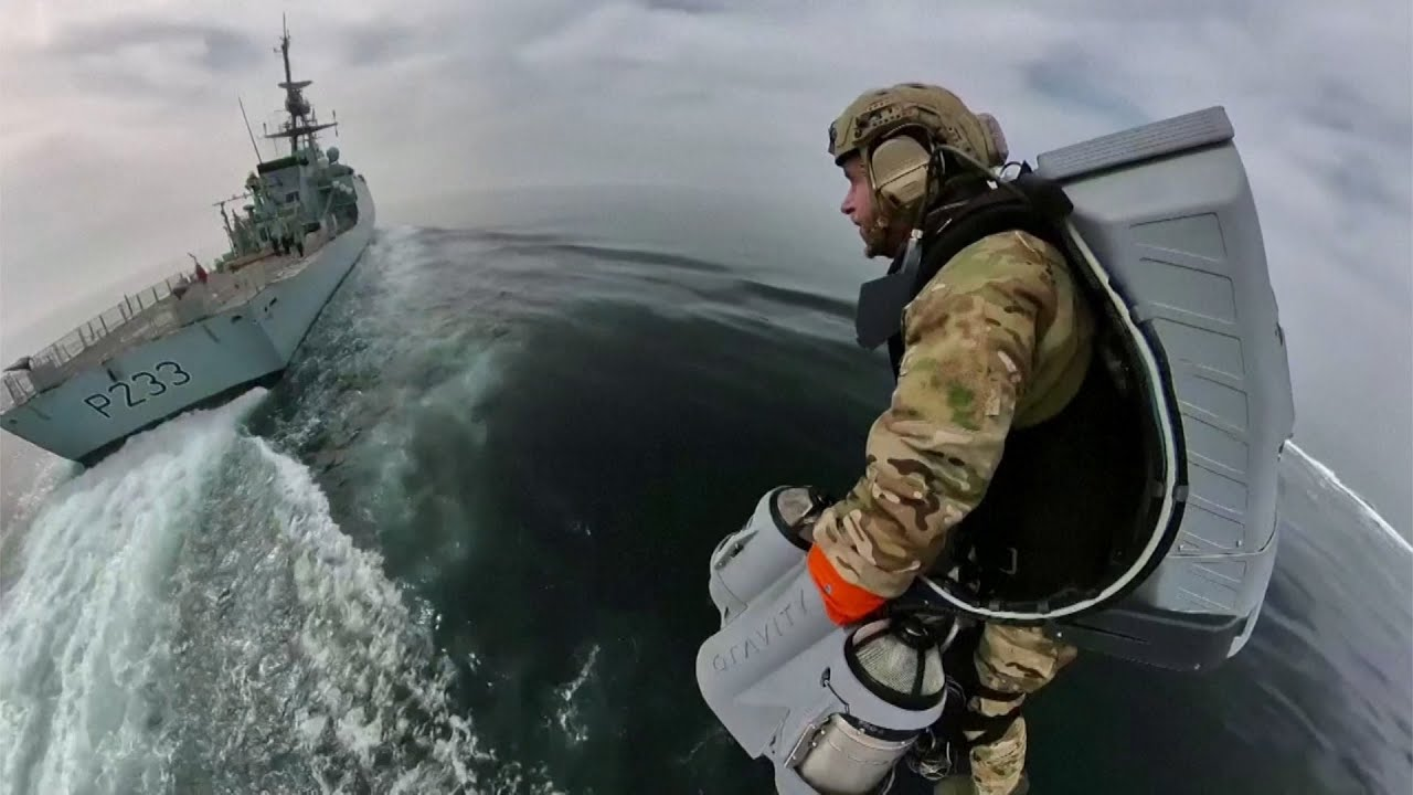 This jet suit is being tested by the U.K.'s Royal Navy
