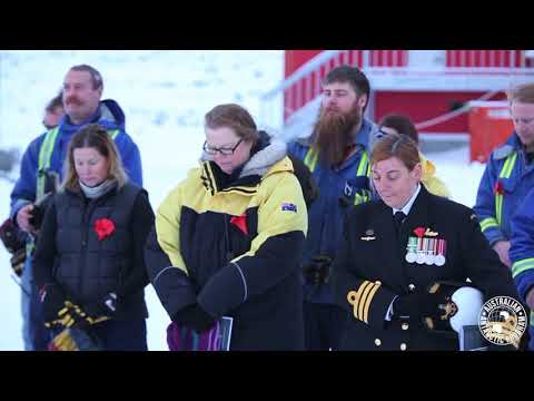 Anzac Day 2018 at Casey Research Station, Antarctica