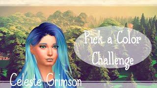 Pick a Color Challenge | Los Sims 4 | Retos CAS | Celeste Grimson
