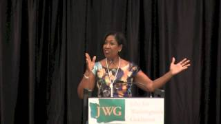 Adriane Brown Speaking at JWG 2014 Luncheon