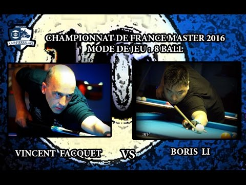 CFM 2016 - 10 Ball -  Vincent Facquet vs Boris Li