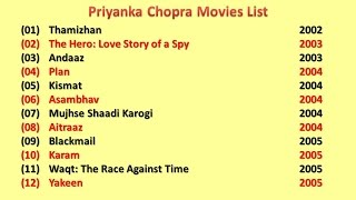 Priyanka Chopra  Movies List
