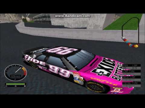 NASCAR Road Racing PC Gameplay (Jeff Burton) (Bridgeport Speedway) (5 Laps)