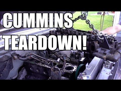 12V CUMMINS ENGINE TEARDOWN!!! TIME TO MAKE SOME BIG HORSEPOWER!!