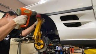 DIY: BobMr2 how to roll fenders on Toyota mr2 sw20