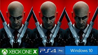 Hitman Absolution And Blood Money - PS4 Pro vs PC vs Xbox One X [4K/60fps]