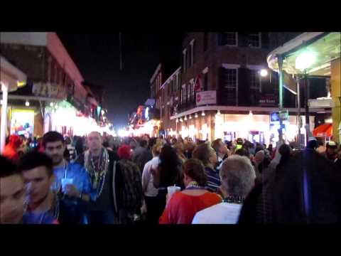 Bourbon Street   Mardi Gras 2013