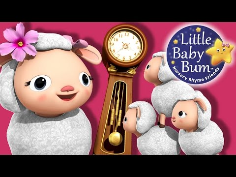 Hickory Dickory Dock | Part 2 | Nursery Rhymes | Original Version By LittleBabyBum!