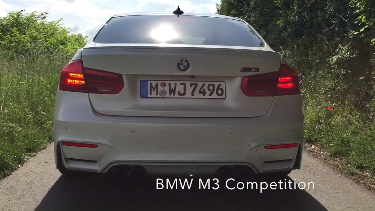 Bmw M3 Competition Paket Sound Check Youtube
