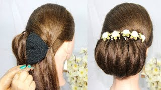 Most Popular wedding Hairstyle for Saree    braided Hairstyles tutorial 2019    New hairstyle