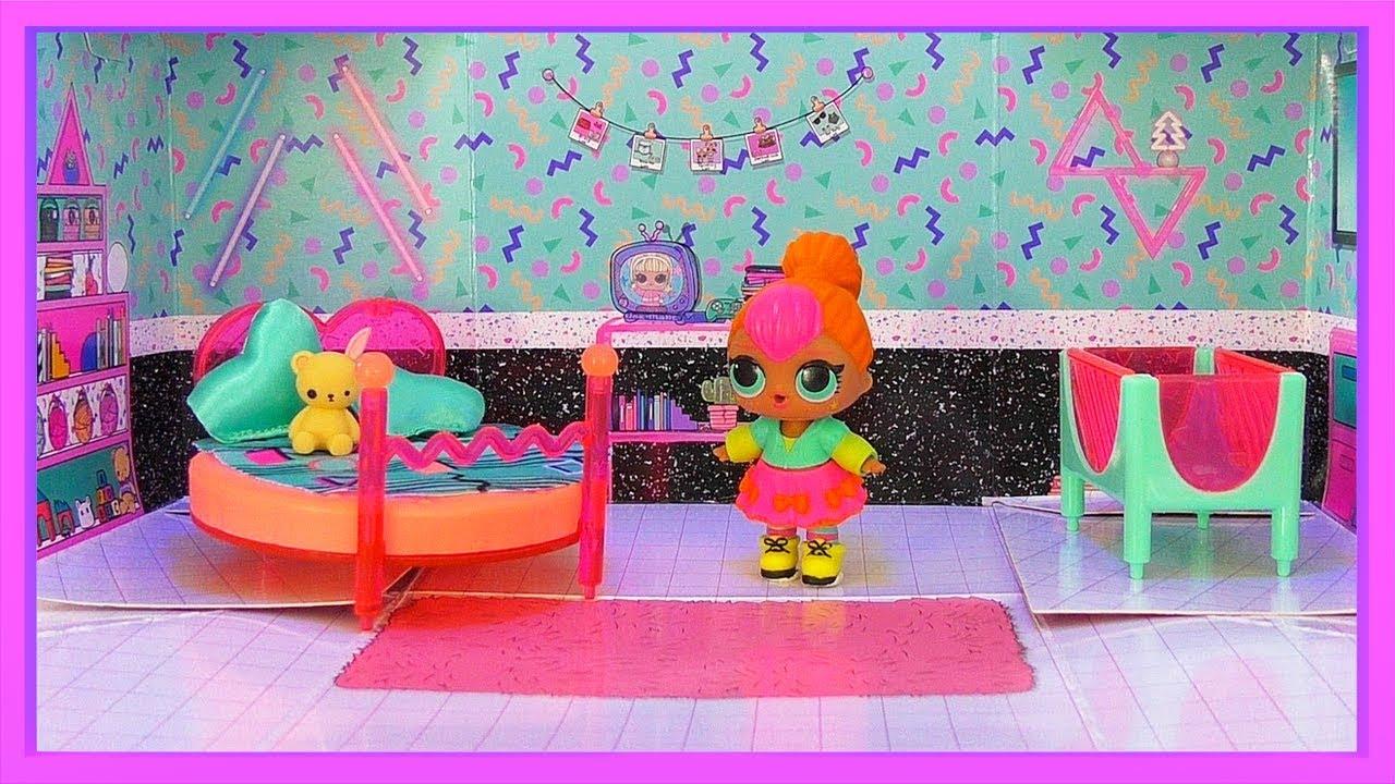 video La chambre à coucher de la poupée LOL Néon Q.T