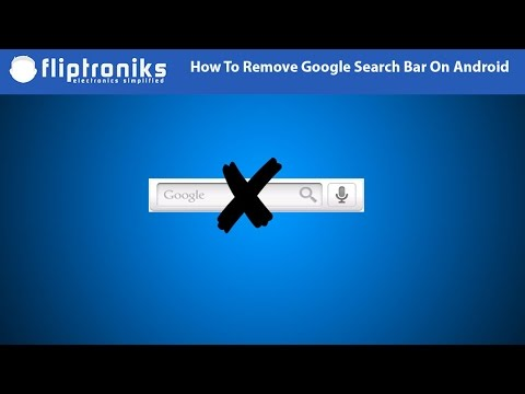 how to remove the search bar on android fliptroniks