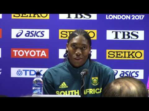 Caster Semeya, Jenny Simpson, Faith Kipyegon Women's 1500m Press Conference
