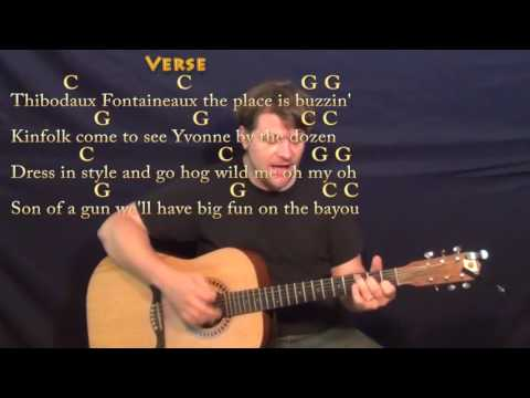 Jambalaya (Hank Williams) Strum Guitar Cover Lesson in C with Chords/Lyrics - C G