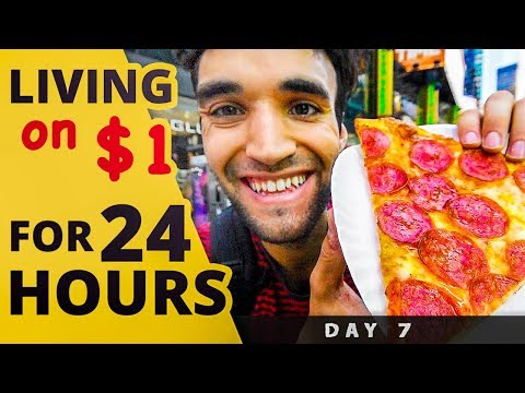 LIVING on $1 for 24 HOURS in NYC! (Day #7)
