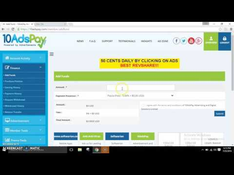 How to make a Bitcoin payment on www.10AdsPay.com
