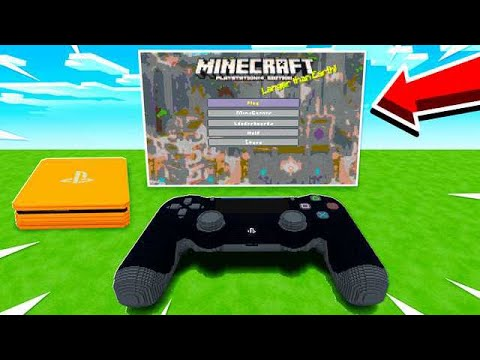 PLAYING MINECRAFT ON A PS4 INSIDE MINECRAFT!