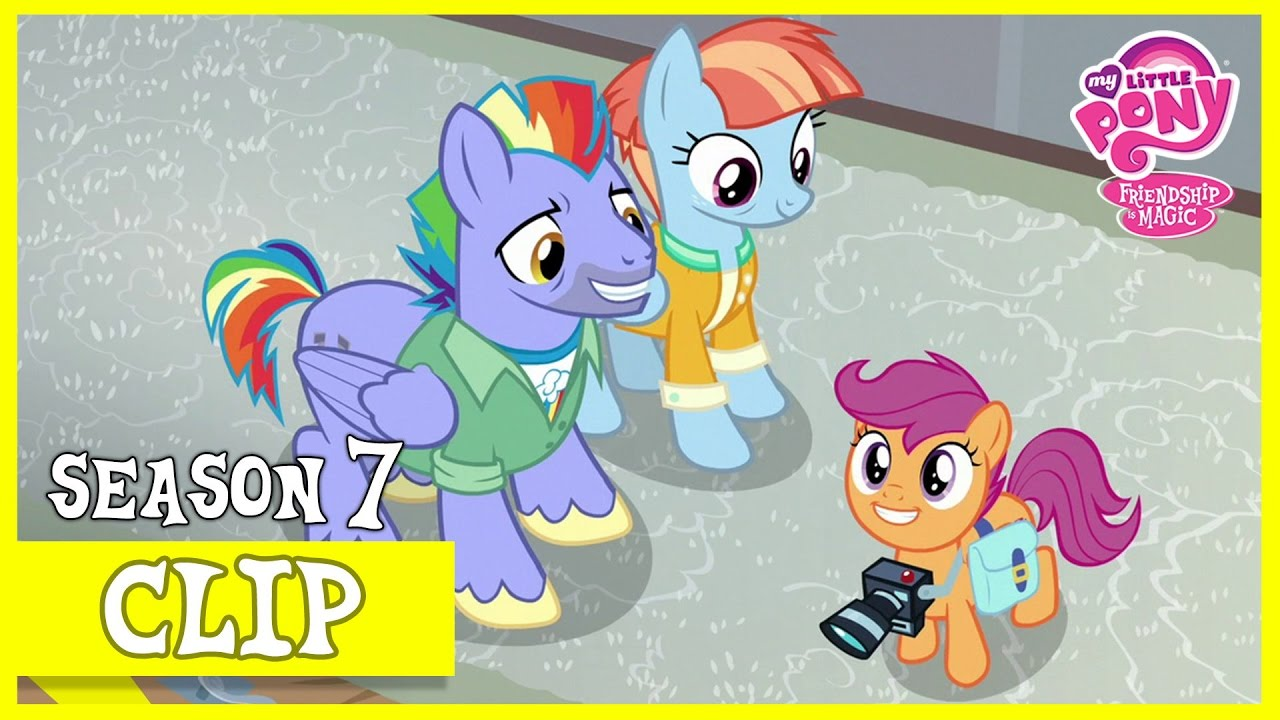 scootaloo meets rainbow dashs parents parental glideance