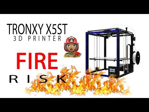 1 - TronXY X5ST Fire Risk - YouTube