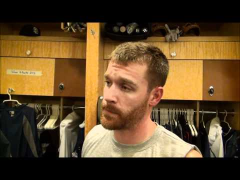 Padres 2B Logan Forsythe on his 1st MLB HR- A Walkoff over the SF Giants