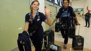 29-09-2014: L'Italvolley femminile è arrivata a Bari