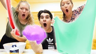 DIY GIANT SLIME! **SECRET RECIPE**