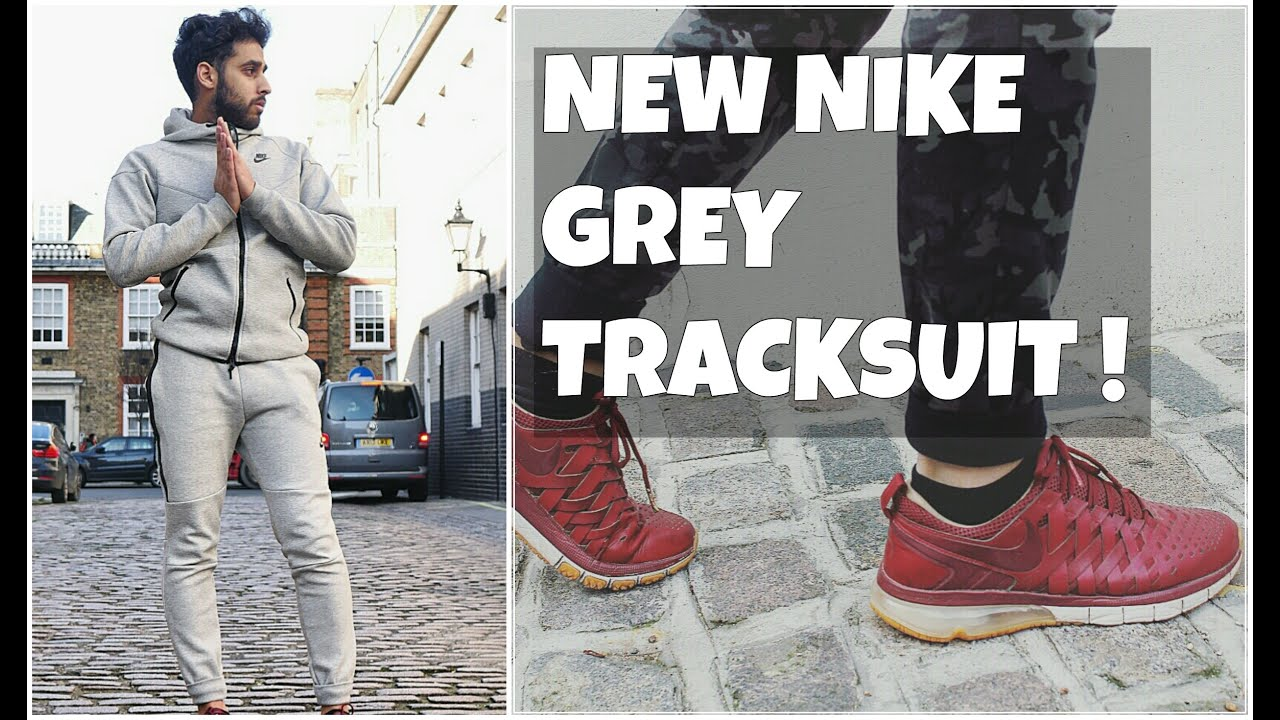 75fceca5d2f5 OUTFIT  14 - NIKE GREY TRACKSUIT   FINGERTRAP COLLECTIBLE SHOES ...