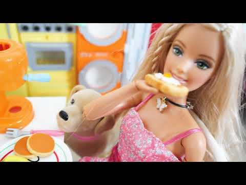 Rapunzel Barbie House Bedroom Morning with Dogs Morgen mit Hunden Matin de chambre Barbie Anjing thumbnail