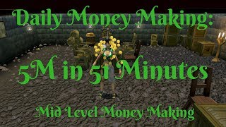 Runescape Daily Money Making - 5M in 51 Minutes - Up to 20M Effective GP/Hr