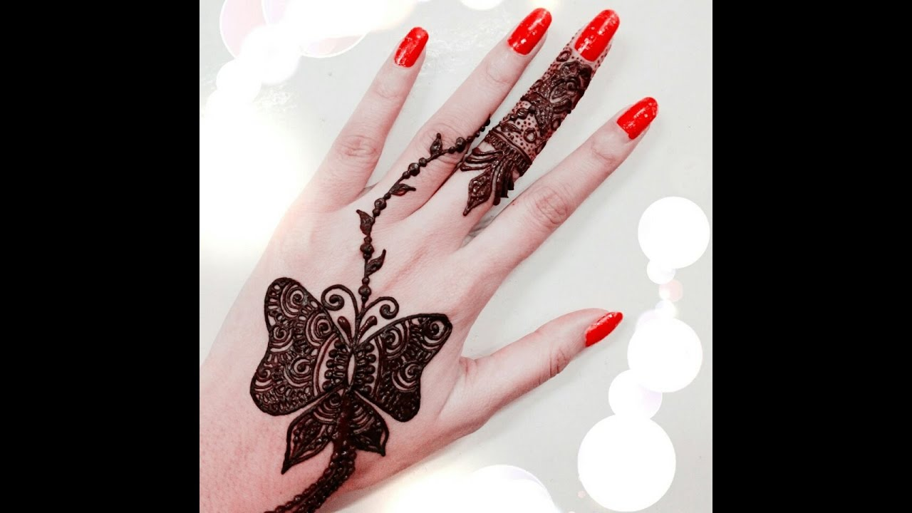 Butterfly Henna Design Youtube