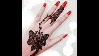 butterfly henna design