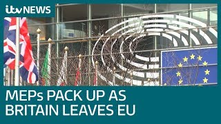 UK MEPs leave Brussels for last time as Britain exits European Union | ITV News