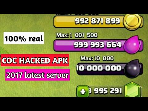 clash of clans real server hack apk
