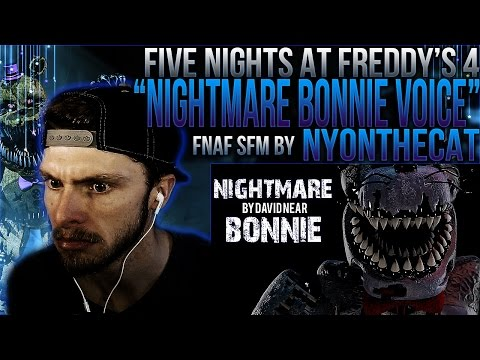 """Vapor Reacts #236   [FNAF SFM] ANIMATION """"Nightmare Bonnie Voice"""" by NyonTheCat REACTION!! ;_;"""
