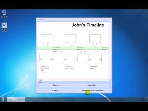 How To Use MS Word Timeline Template Software