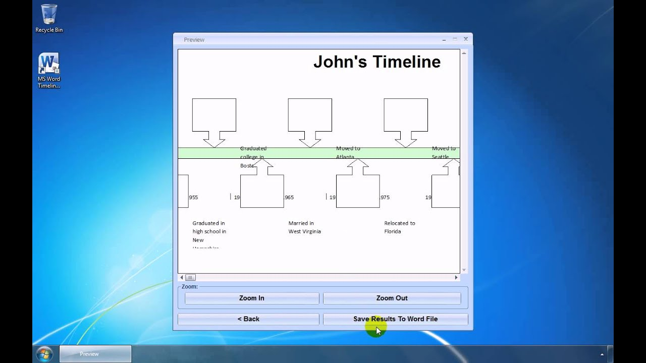 How To Use MS Word Timeline Template Software YouTube - Ms word timeline template